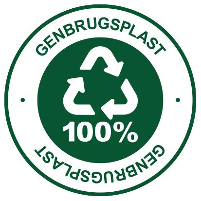 100% Genbrugsplast
